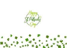 Grünes Klee St. Patrick Day Stockfotografie
