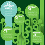 Grünes Konzept Infographic. Stockfotografie