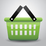Grünes Korbeinkaufen Lizenzfreies Stockfoto