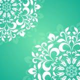 Grünes Kreismuster der Blumenblätter Stockbilder
