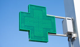 Grünes Kreuz Stockbild