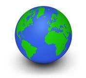 Grünes Kugel-Ökologie-Konzept Lizenzfreies Stockbild