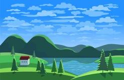 Grünes Landschaftskonzept Stockbilder