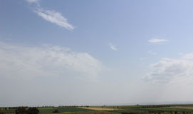 Grünes Landwirtschaft Feld mit Himmel Lizenzfreies Stockfoto
