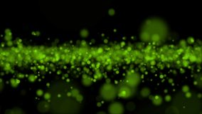 Grünes Licht bokeh Zusammenfassungs-Videohintergrund stock abbildung