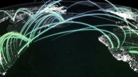 Grünes Licht der Matrixstadt lizenzfreie abbildung