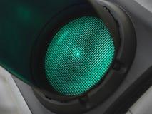 Grünes Licht für gehen - Archivbild Stockbilder