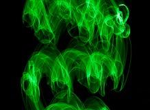 Grünes Licht-Malerei Stockbild