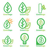 Grünes Logo Lizenzfreie Stockfotografie