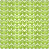 Grünes Lotosmuster Stockfotografie