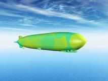 Grünes Luftschiff Stockbilder