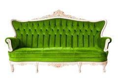 Grünes Luxuxsofa der Weinlese Lizenzfreie Stockbilder