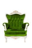 Grünes Luxuxsofa der Weinlese Stockfotos