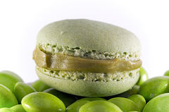 Grünes Macaron Lizenzfreie Stockfotografie