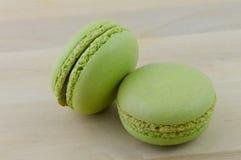 Grünes Macarons Stockfotografie