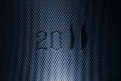 Grünes Metall und 2011 Jahr Stockfotografie