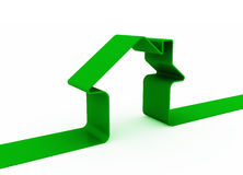 Grünes Metapherhaus Stockfoto