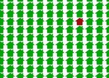 Grünes Metapherhaus Stockbild