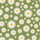 Grünes mit Blumenmuster Stockfotos