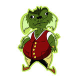 Grünes Monster Lizenzfreies Stockfoto