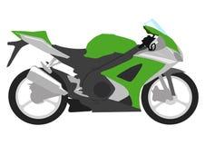 Grünes Motorrad Lizenzfreie Stockfotos