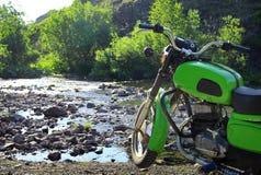 Grünes Motorrad Lizenzfreies Stockbild
