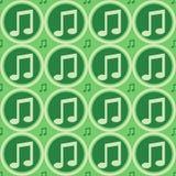 Grünes Muster der musikalischen Anmerkungen vektor abbildung