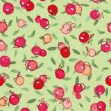 Grünes Muster mit rosafarbener Anlage und Punkten lizenzfreie stockfotos