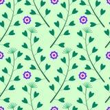 Grünes Muster mit senkt und Gras Stockbild