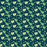 Grünes nahtloses Herz Stockfotografie