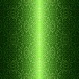Grünes nahtloses mit Blumenmuster der Damastweinlese Vektor Abbildung