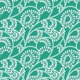 Grünes nahtloses mit Blumenmuster des Vektors Lizenzfreie Stockfotos
