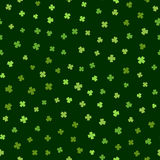 Grünes nahtloses Muster für Tag St. Patricks Lizenzfreie Stockbilder