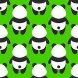 Grünes nahtloses Muster mit fettem Tier lizenzfreie abbildung