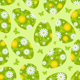 Grünes nahtloses Muster Ostern. Lizenzfreie Stockfotografie