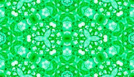 Grünes nahtloses Muster Unterhaltende empfindliche Seifenblasen Gezeichnete Verzierung der Spitzes Hand Textil Kaleidoscop lizenzfreie abbildung