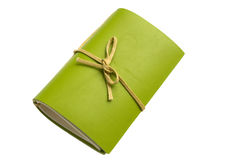 Grünes Notizbuch Lizenzfreie Stockbilder