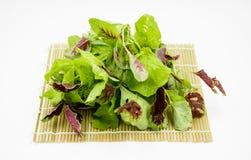 Grünes organisches Gemüse auf weißem Hintergrund Lizenzfreie Stockbilder