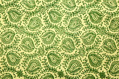 Grünes Paisley-Muster Lizenzfreie Stockbilder