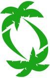 Grünes Palmen-Muster Lizenzfreie Stockbilder