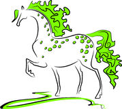 Grünes Pferd Stockfoto