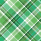 Grünes Plaidmuster Lizenzfreie Stockfotografie