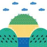 Grünes Plakat der Ökologie stockfoto
