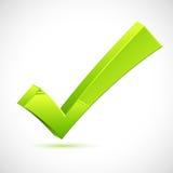 Grünes Prüfzeichen vektor abbildung