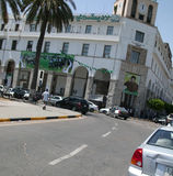 Grünes Quadrat - (Tripoli, Libyen) stockbilder