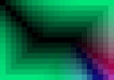 Grünes quadratisches Muster in der Farbe geometrisch lizenzfreie abbildung