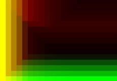 Grünes rotes gelbes quadratisches Muster in der Farbe geometrisch vektor abbildung
