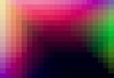 Grünes rotes gelbes quadratisches Muster in der Farbe geometrisch stock abbildung