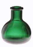 Grünes rundes Glasbottl Stockfoto