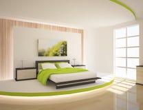 Grünes Schlafzimmer Lizenzfreies Stockbild